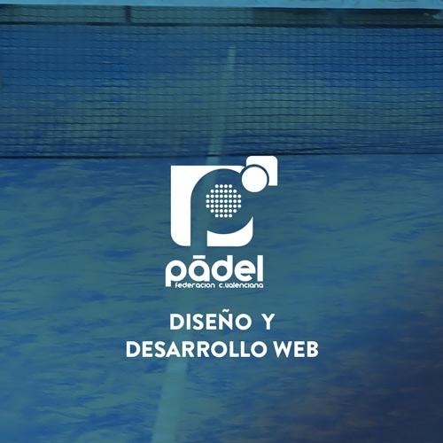 Diseño y desarrollo web Federación padel Comunitat Valenciana