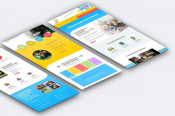 diseño web academia ingles