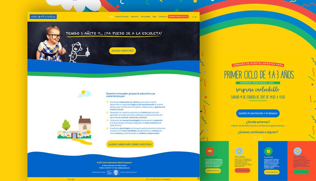 diseño web para guarderias