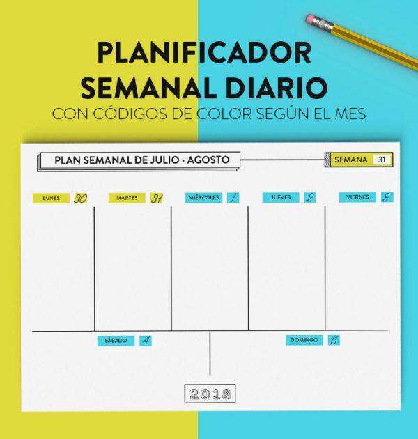 planificador semanal diario