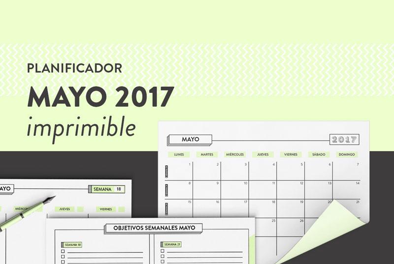 Planificador Mayo Calendario Gratis