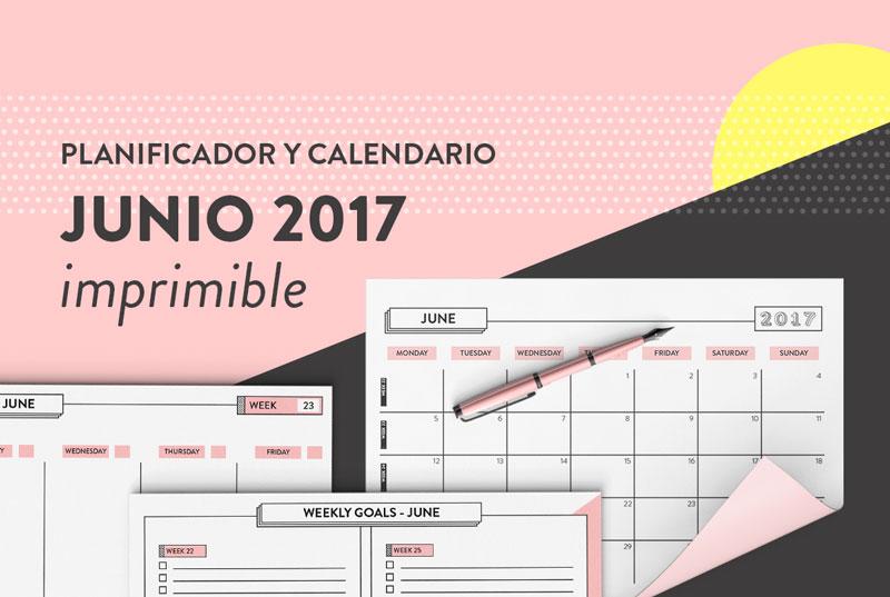 planificador junio calendario gratis