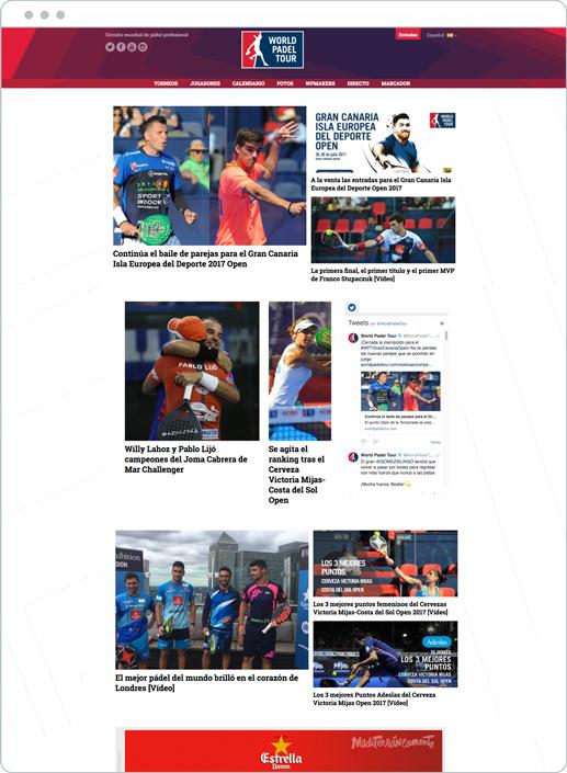 diseño web deportes