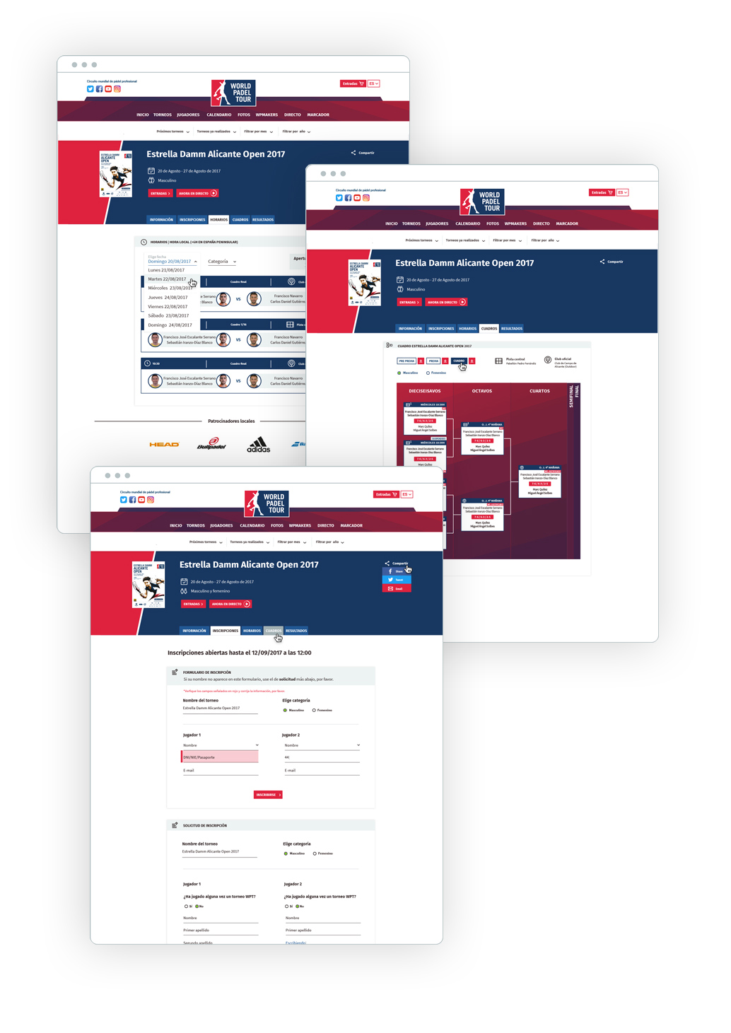página web deportes