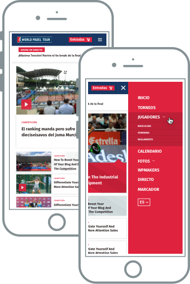 web responsive noticias