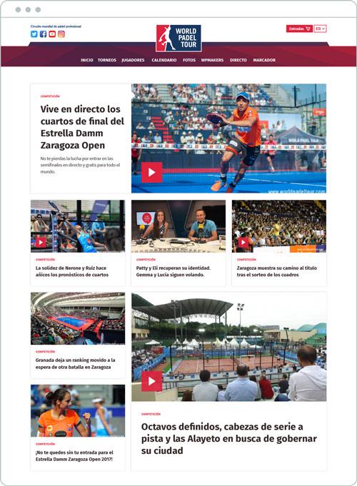 diseño pagina de noticias