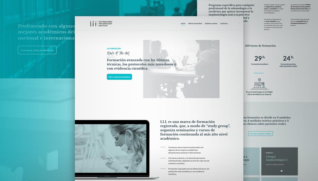 web para cursos y academias