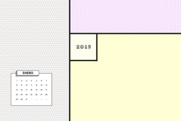 calendario fondo pantalla 2018