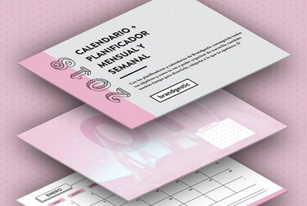 calendario planificador enero 2018 imprimible