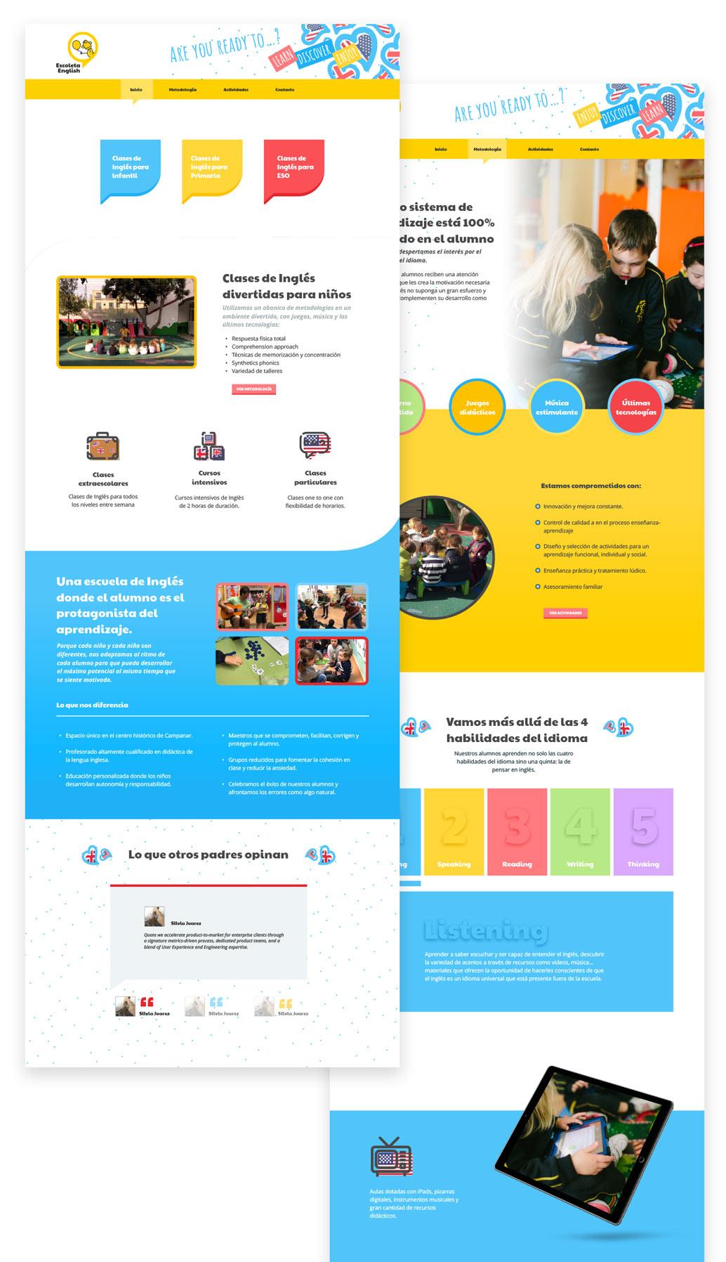 creacion web academias