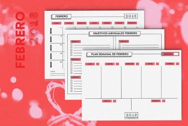 calendario y planificador febrero 2018 gratis imprimible