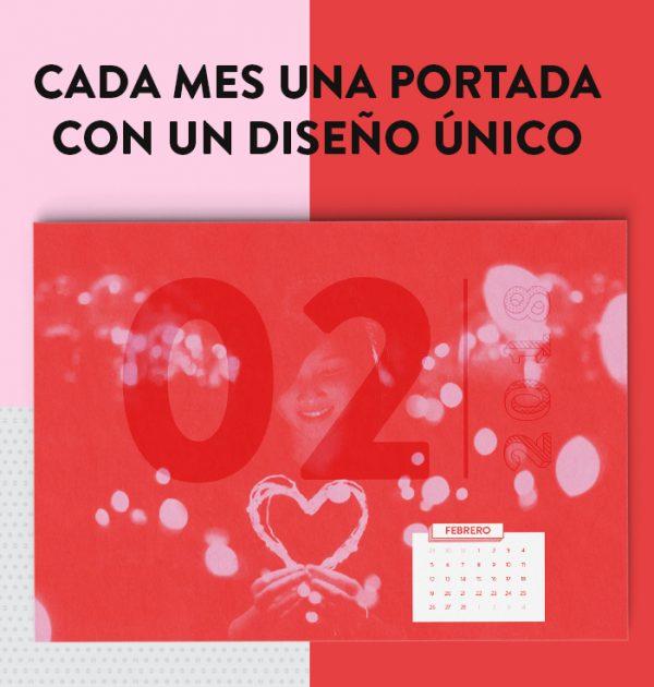 calendario mensual con diseño 2018