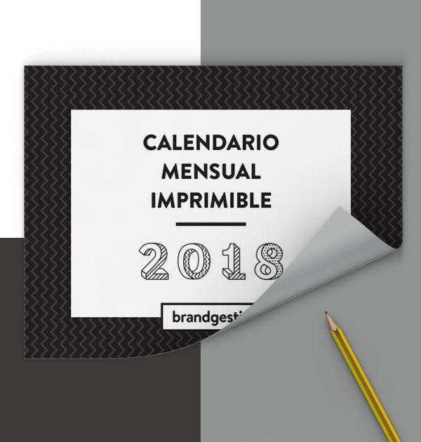 calendario mensual imprimible 2018