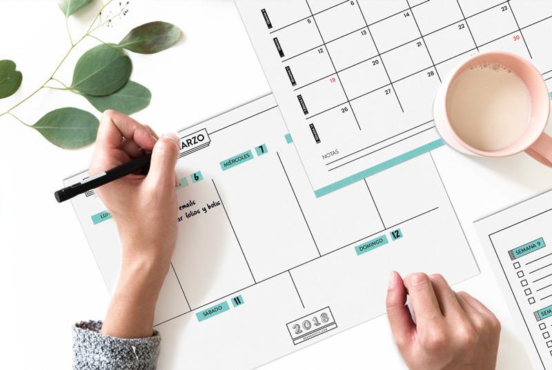 planificador marzo 2018
