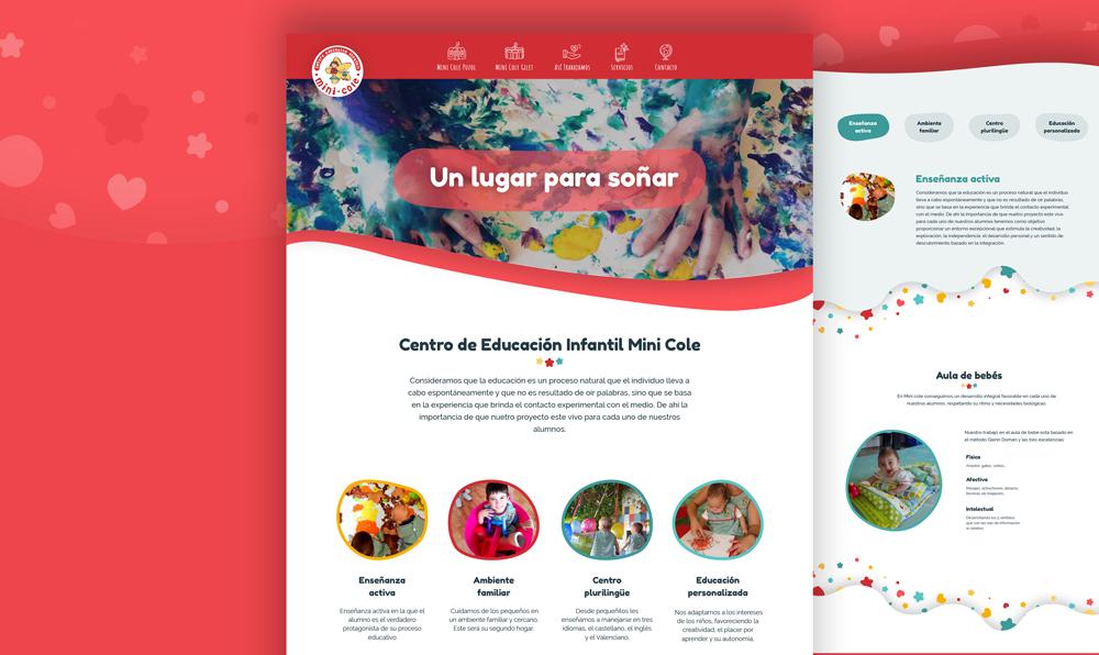 creacion web educacion infantil