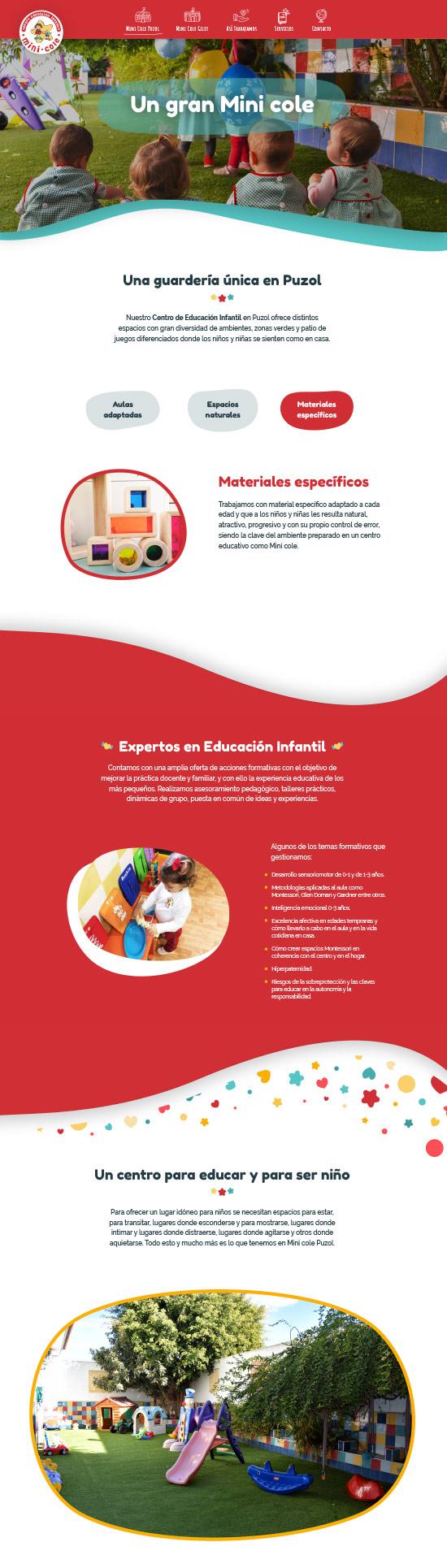 creacion web centro educacion infantil