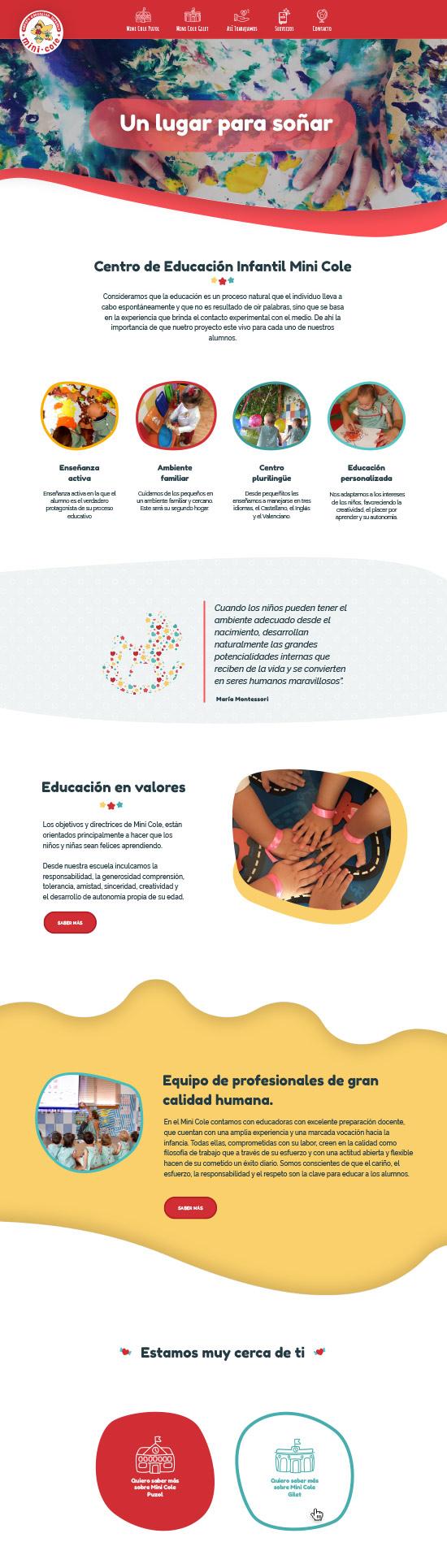 diseño web colegio educacion
