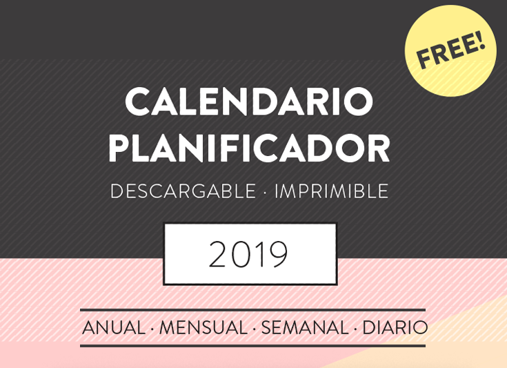 calendario planificador 2019