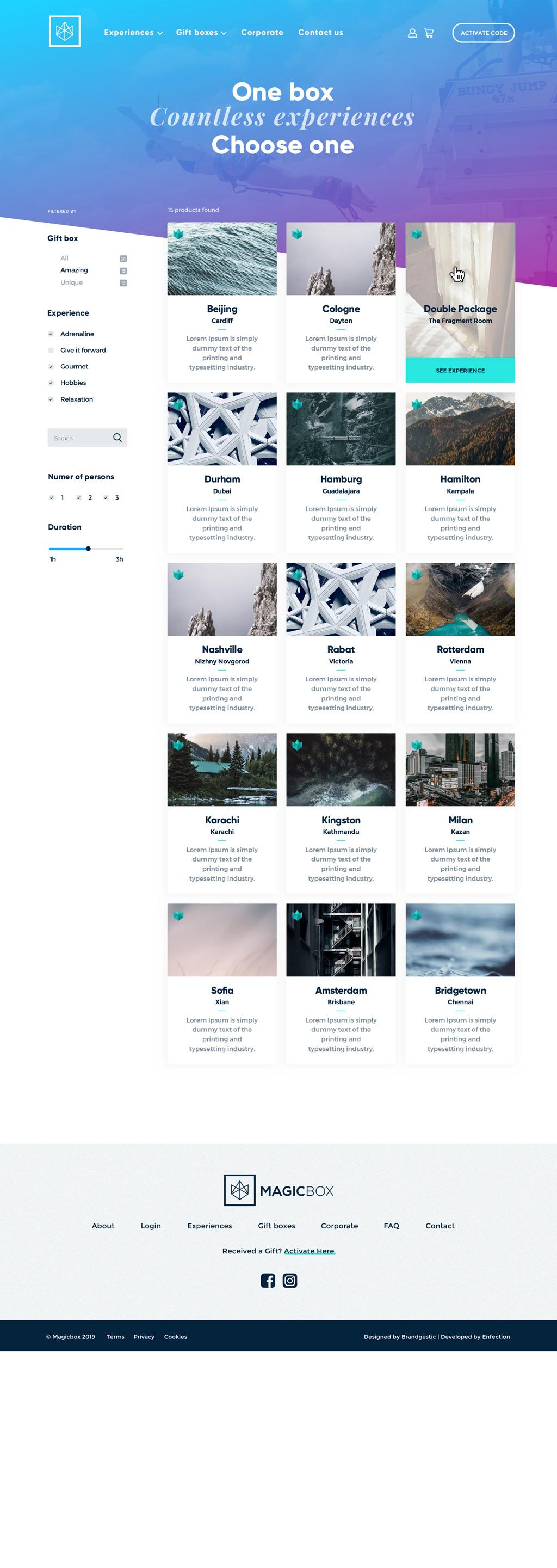diseño web experiencias