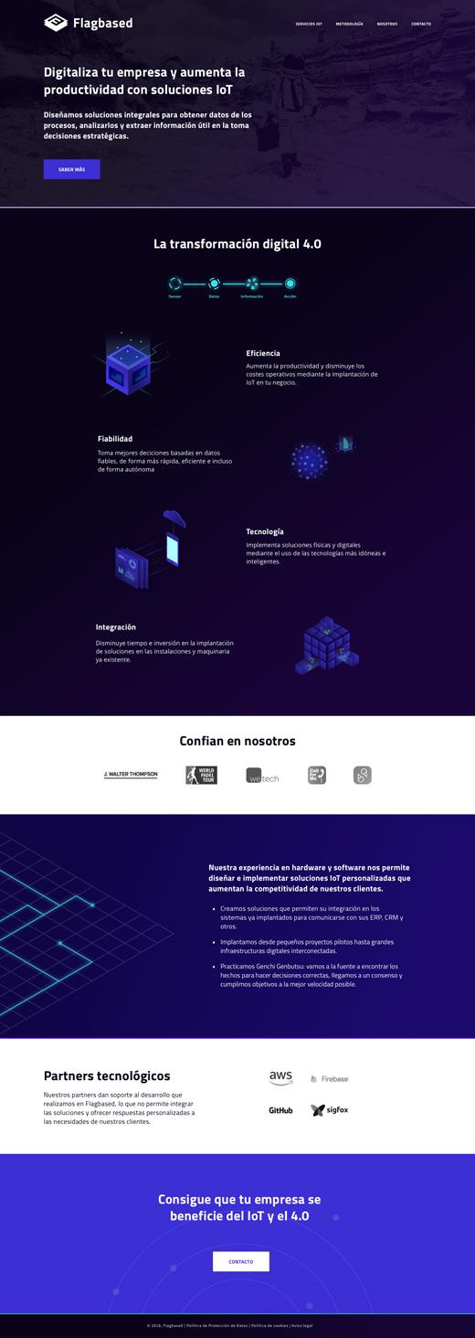 diseño web empresa iot