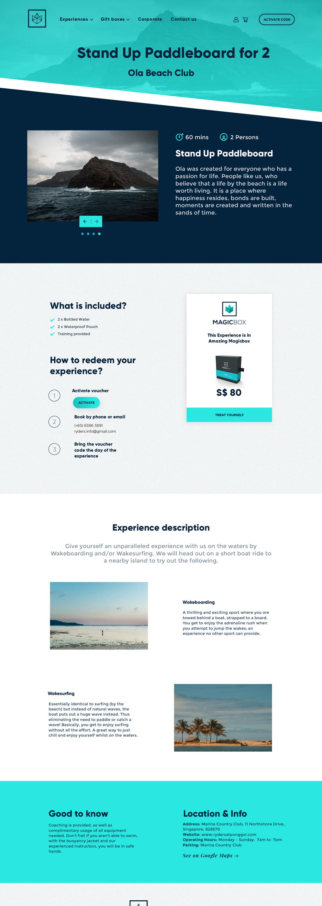 Diseño web cajas regalos